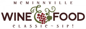 mcminnville wine and food classic - sip - logo