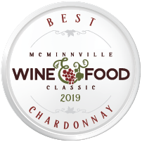 McMinnville Wine & Food Classic Wine Competition Best Chardonnay Award